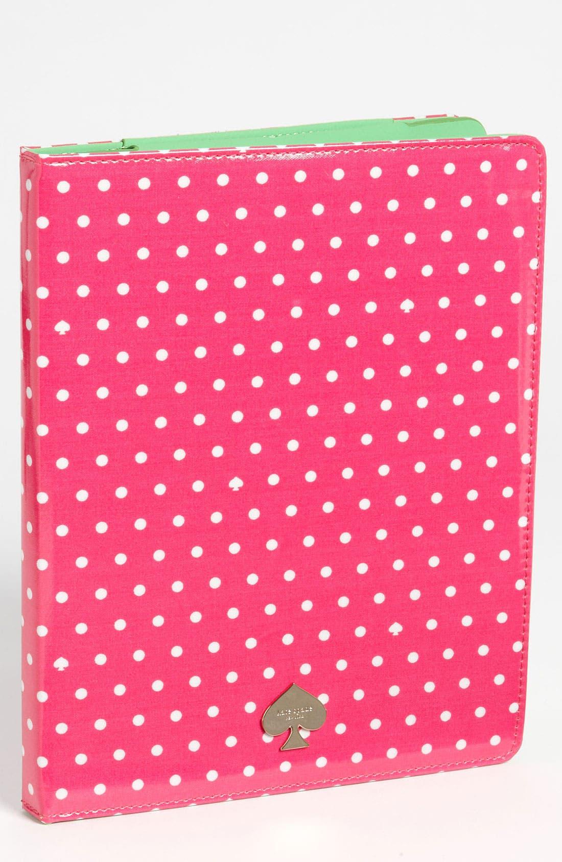 Main Image - kate spade new york 'dots and spades' iPad folio