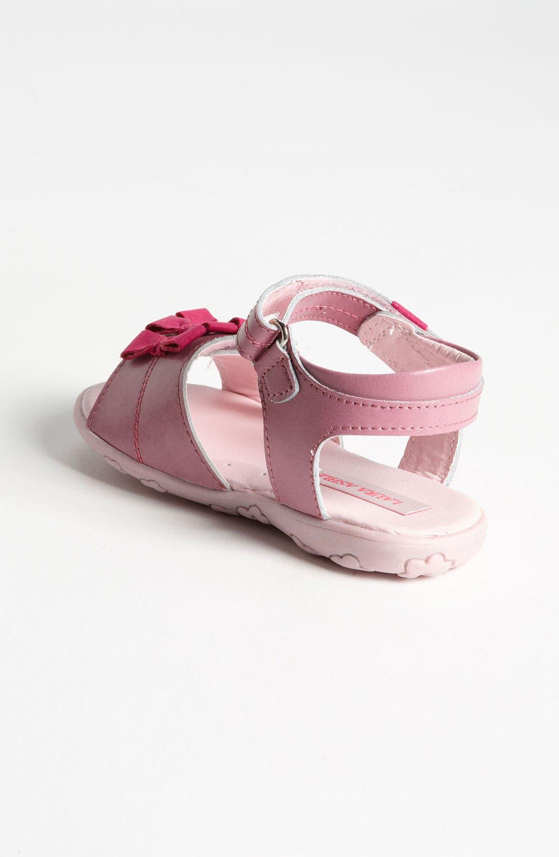 Alternate Image 2  - Laura Ashley 'Bow' Sandal (Walker & Toddler)