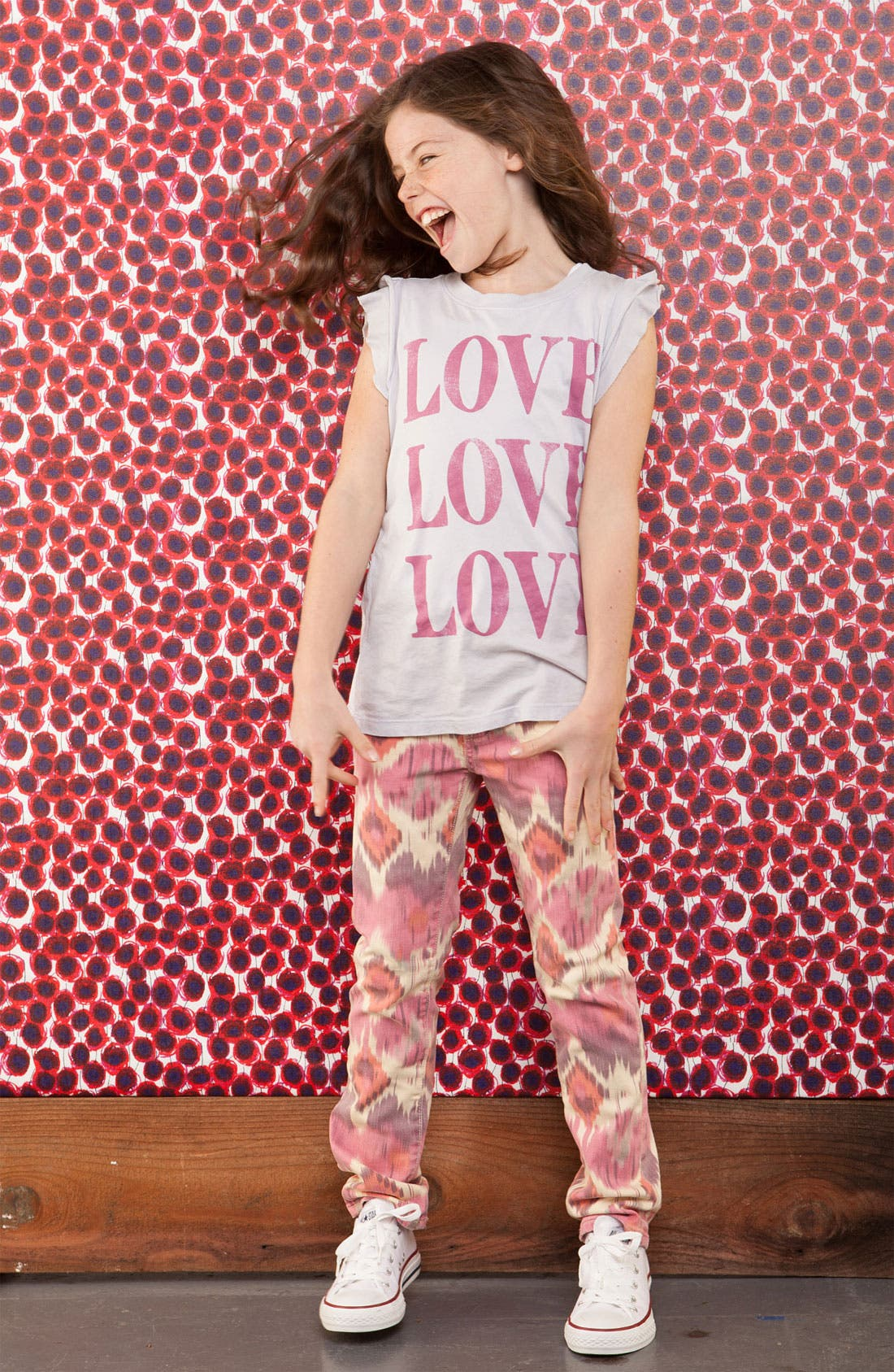 Alternate Image 1 Selected - Peek Tee, Jeans & Sneaker (Toddler, Little Girls & Big Girls)