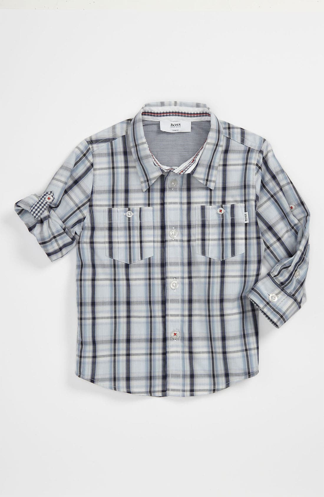 Alternate Image 1 Selected - BOSS Kidswear Poplin Shirt (Baby)