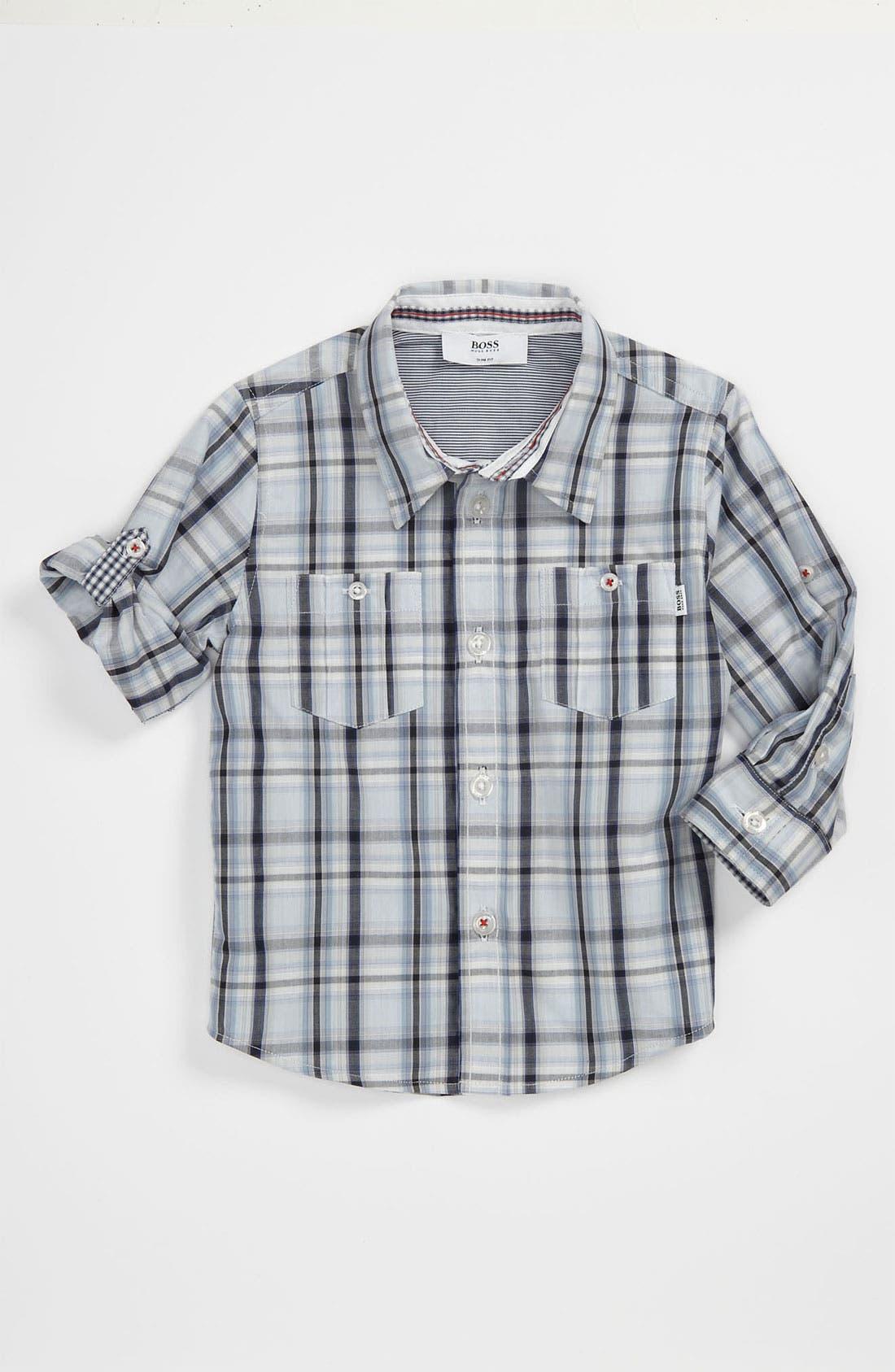 Main Image - BOSS Kidswear Poplin Shirt (Baby)