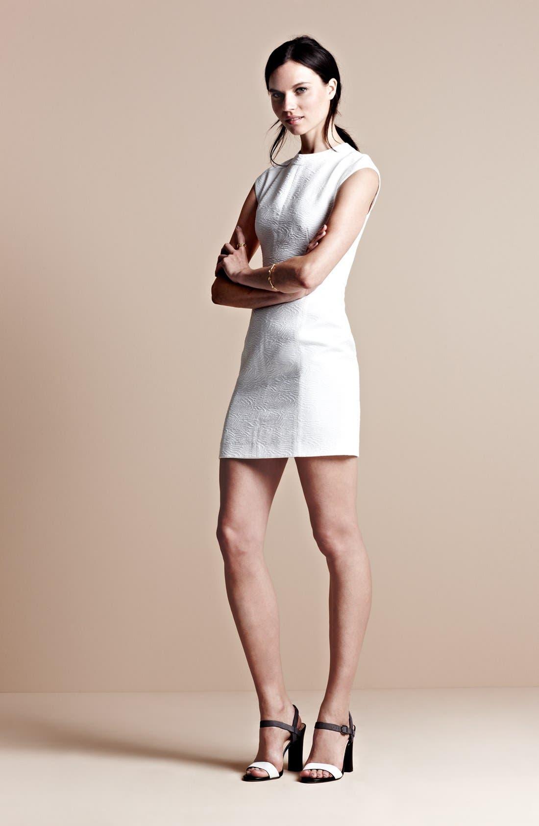 Alternate Image 4  - Theory 'Orinthia' Cotton Blend Sheath Dress