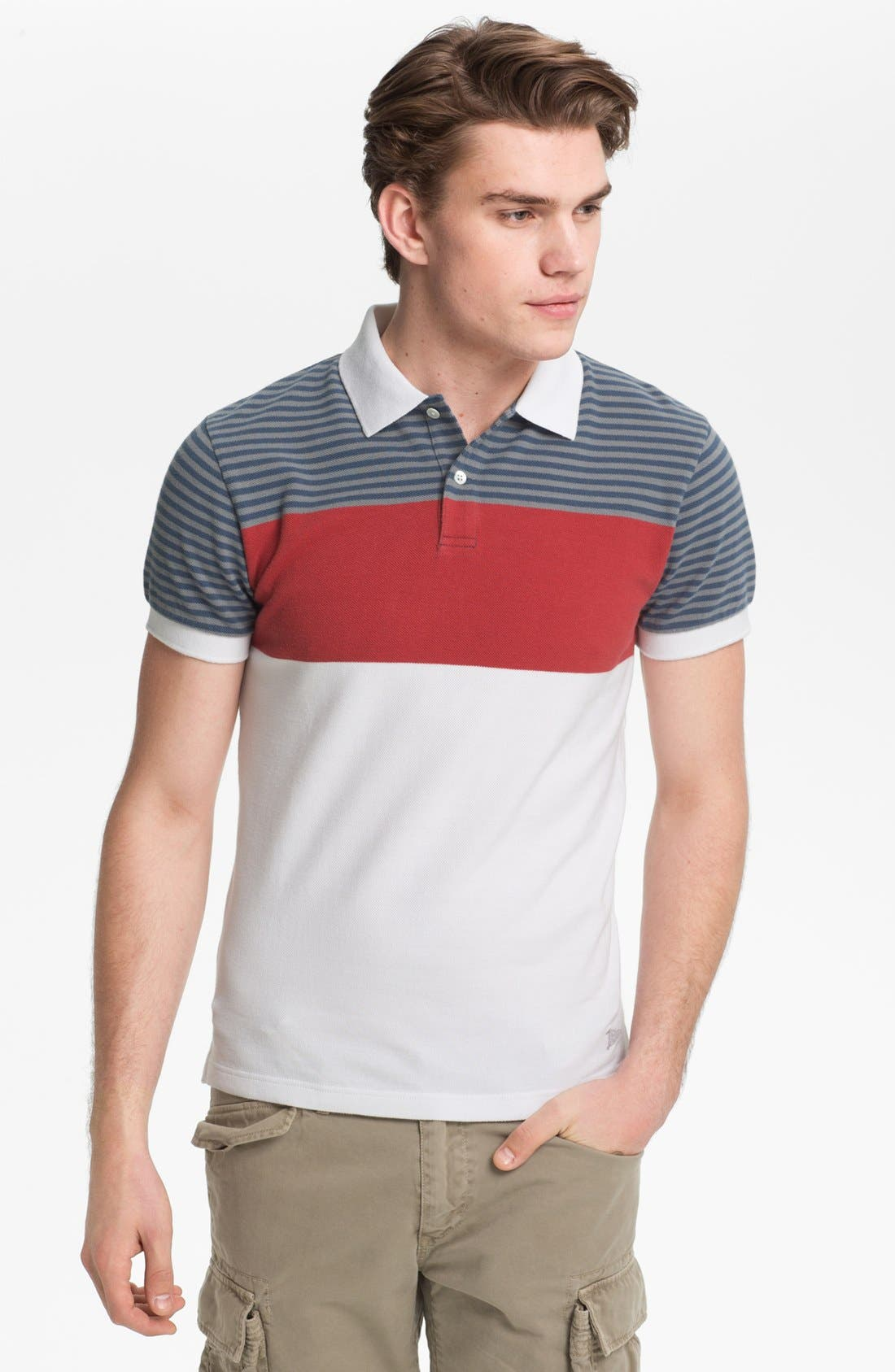 Main Image - Gant by Michael Bastian Chest Stripe Piqué Polo