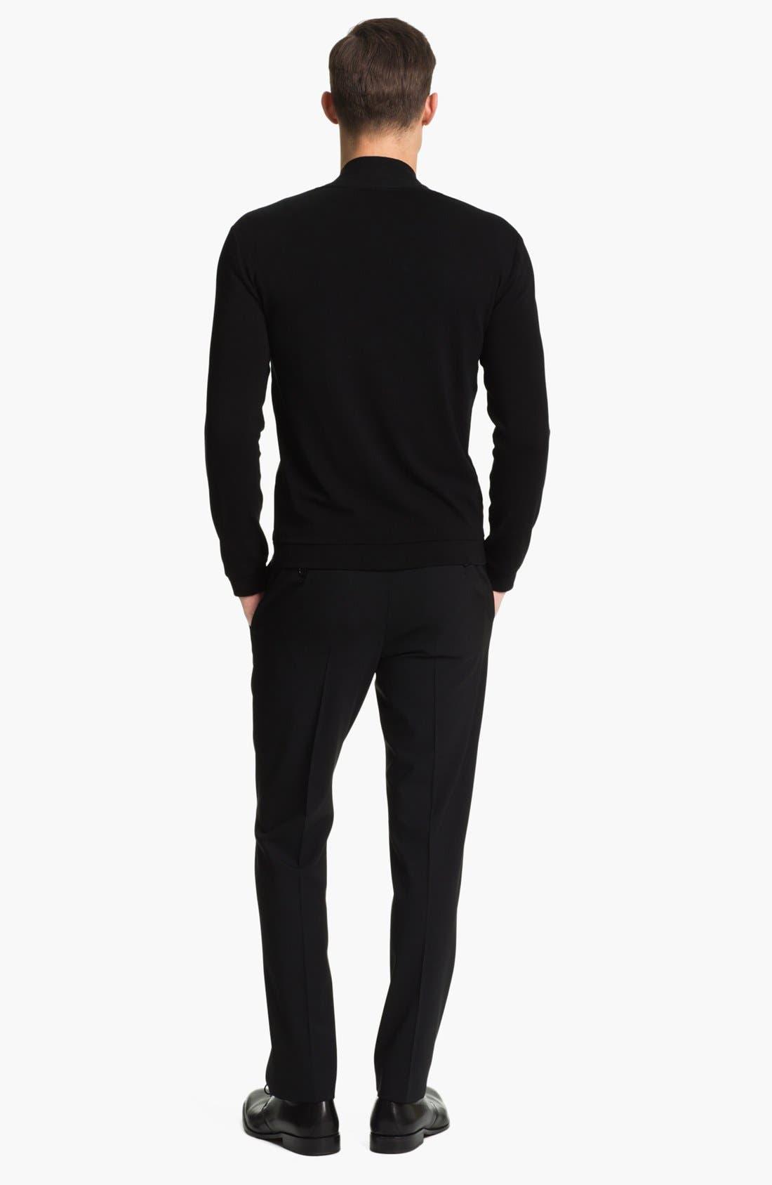 Alternate Image 5  - Armani Collezioni Jersey Knit Cardigan