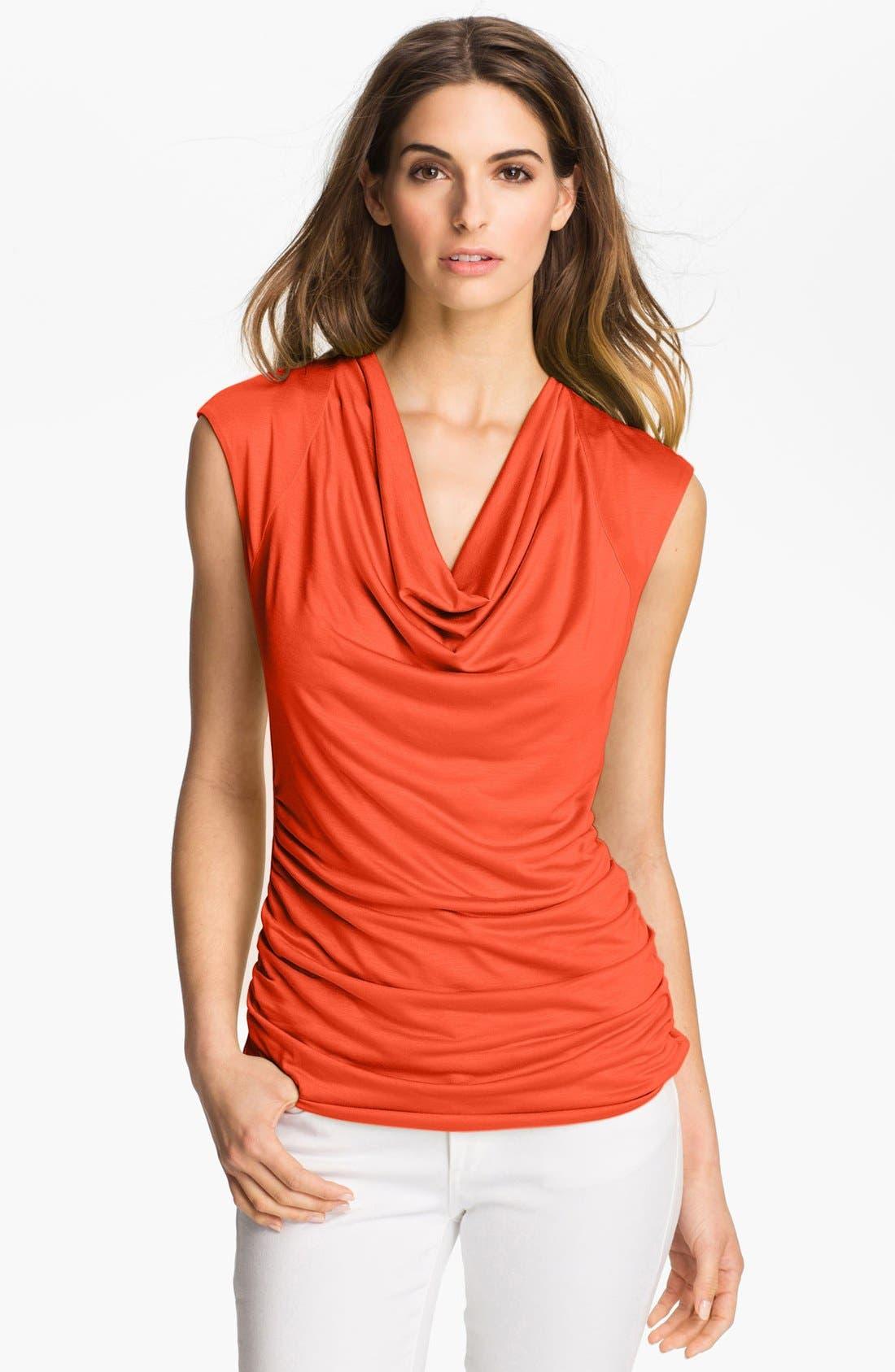 Alternate Image 1 Selected - Classiques Entier® Drape Neck Jersey Top