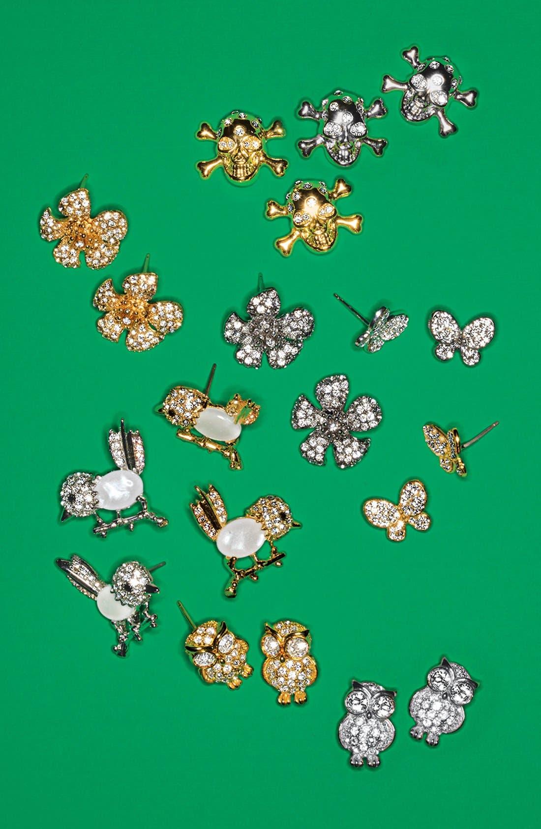 Alternate Image 3  - Cara Skull Stud Earrings