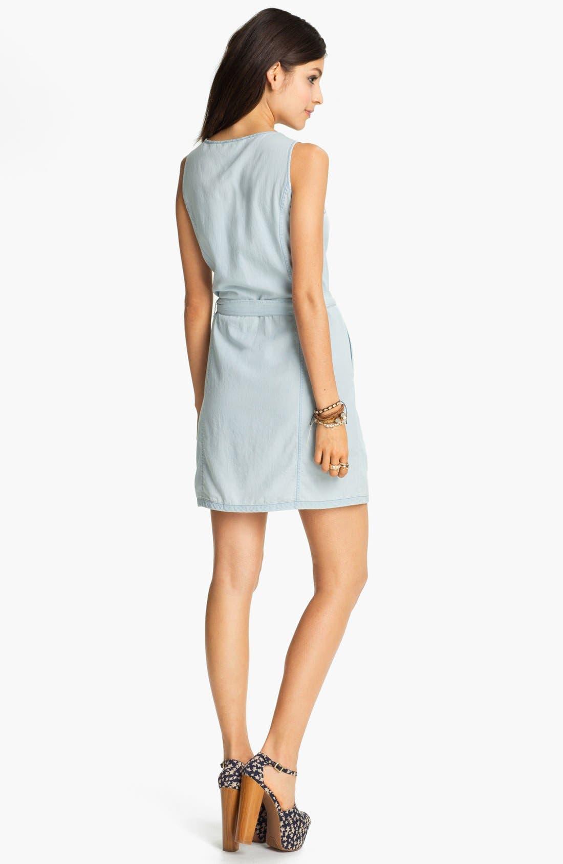 Alternate Image 2  - Rubbish® Chambray Bustier Dress (Juniors)