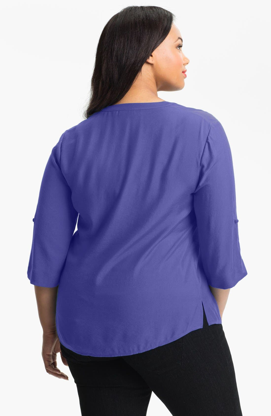 Alternate Image 2  - Sejour Twill Shirt (Plus Size)