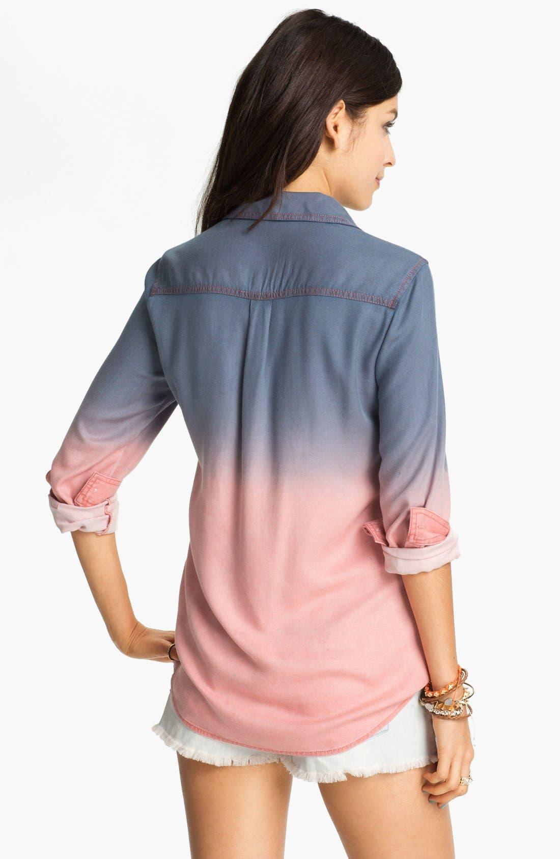 Alternate Image 2  - Rubbish Dip Dye Menswear Shirt (Juniors)
