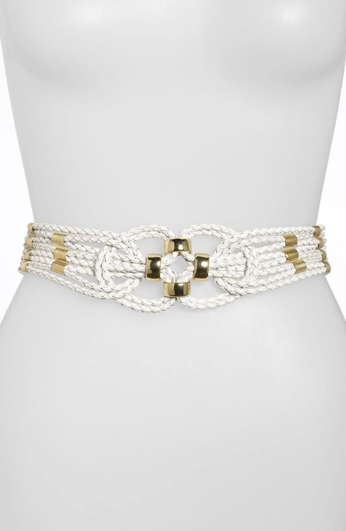 Alternate Image 1 Selected - Another Line Braided Leather Stretch Belt
