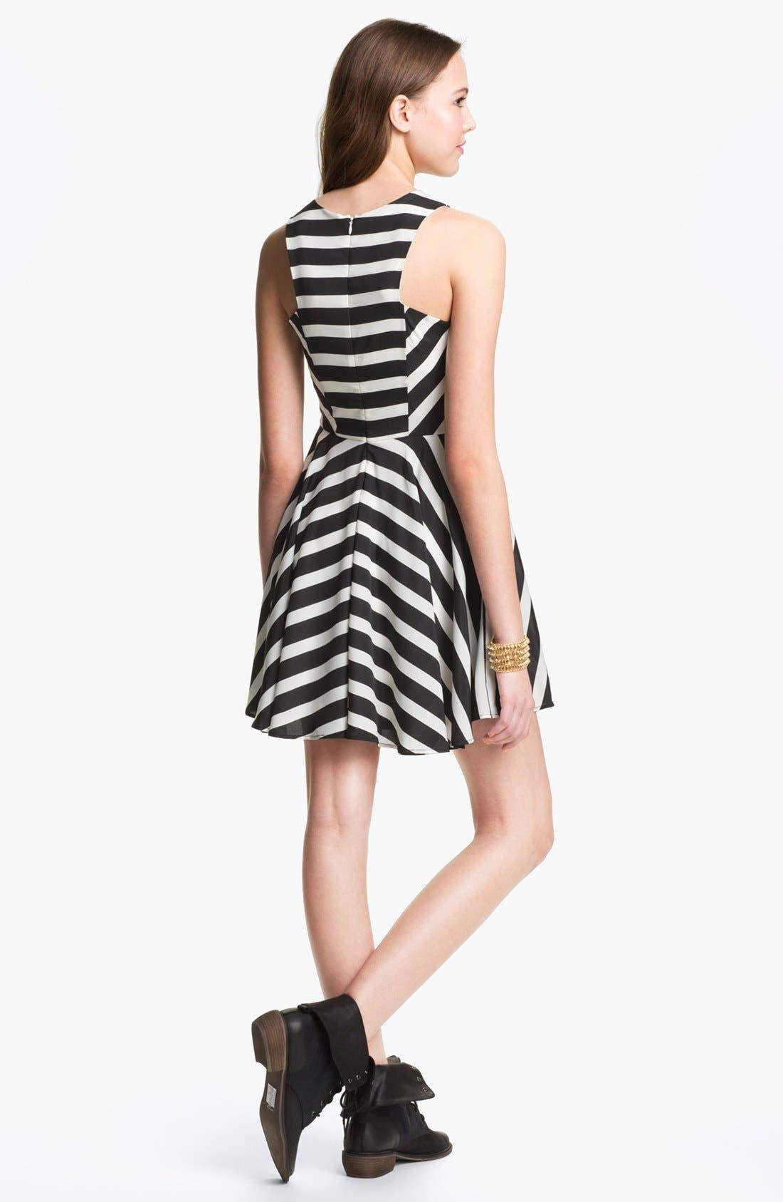 Alternate Image 2  - dee elle Print Skater Dress (Juniors)