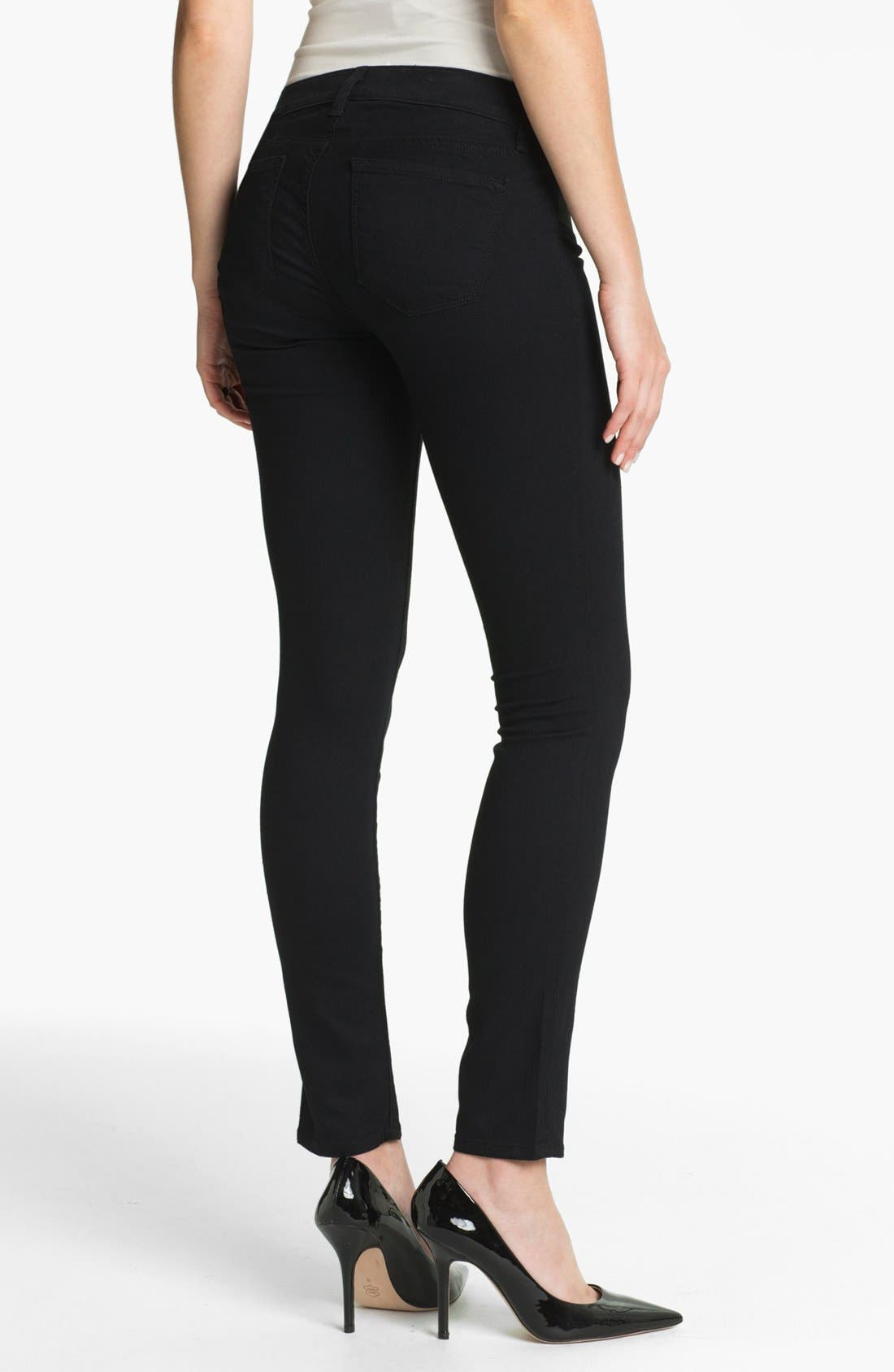 Alternate Image 2  - J Brand Denim Maternity Leggings (Pitch)