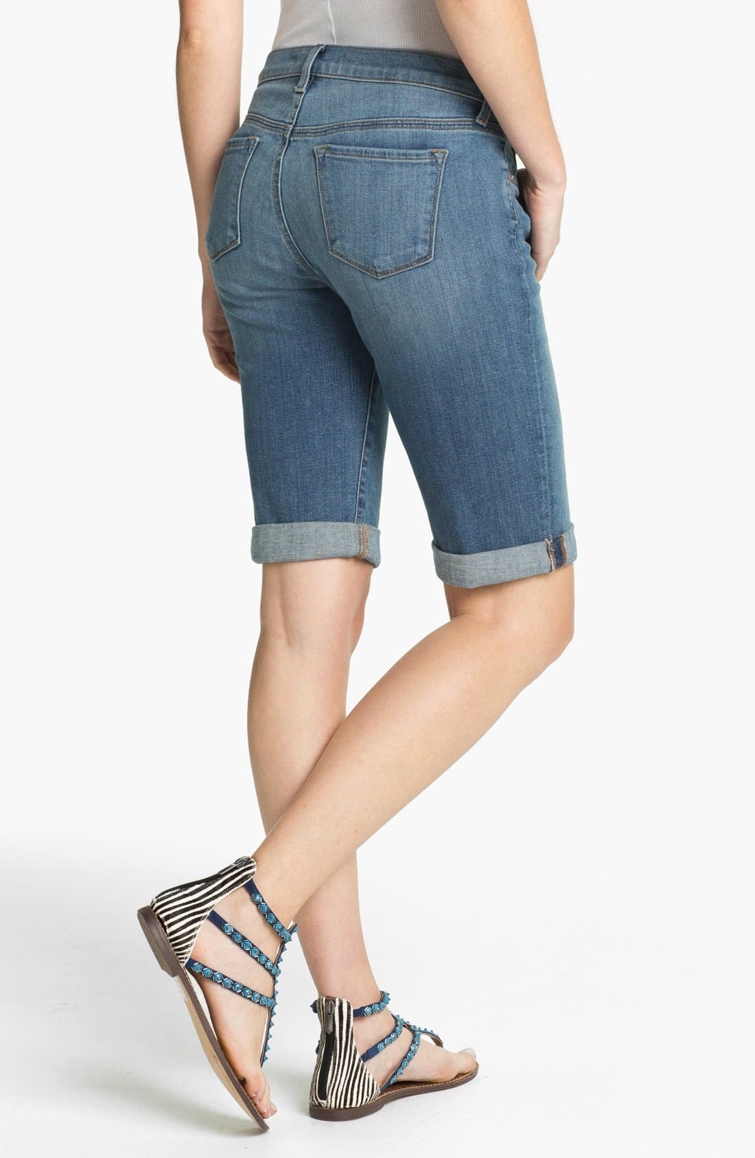 Alternate Image 2  - J Brand Cuff Stretch Denim Shorts (Revenge)
