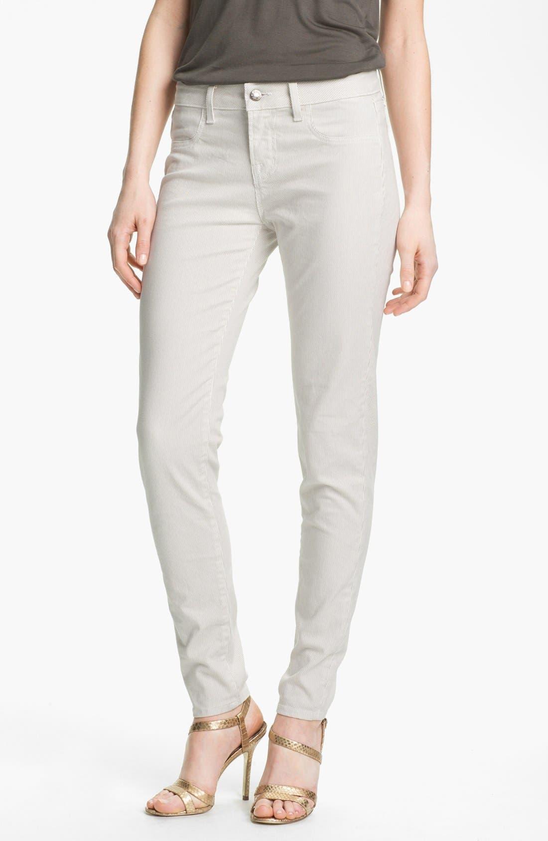 Main Image - Blue Essence Railroad Stripe Skinny Jeans