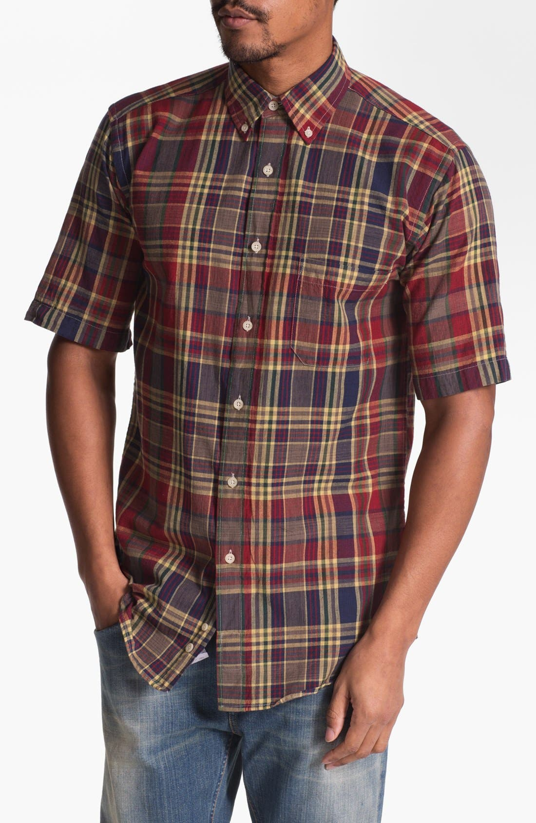 Main Image - Pendleton 'Seaside' Fitted Madras Plaid Woven Shirt