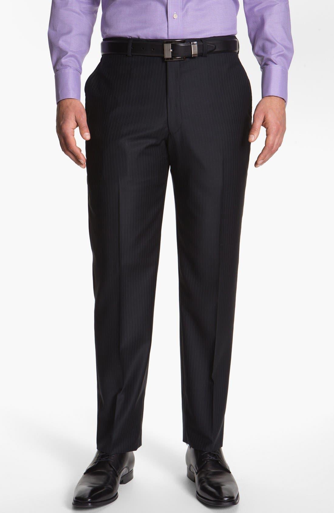 Alternate Image 4  - Hart Schaffner Marx Stripe Wool Suit (Big)