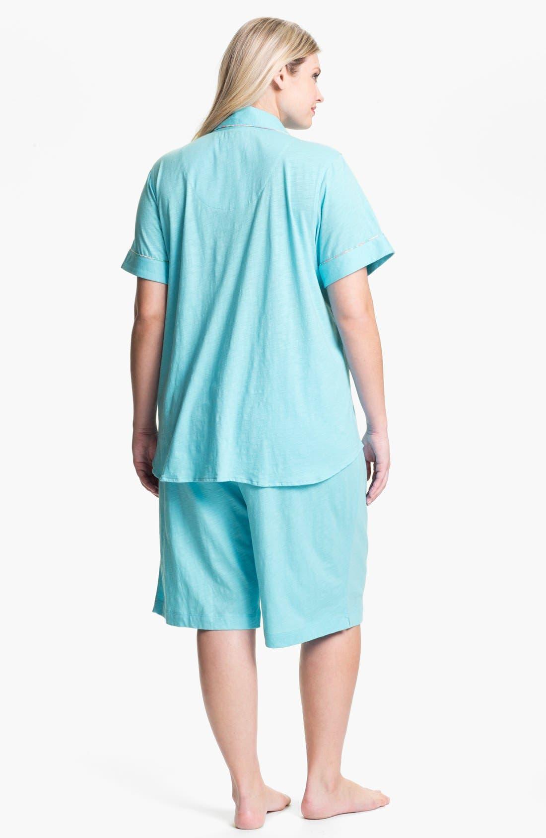Alternate Image 2  - Lauren Ralph Lauren Sleepwear Short Pajamas (Plus)