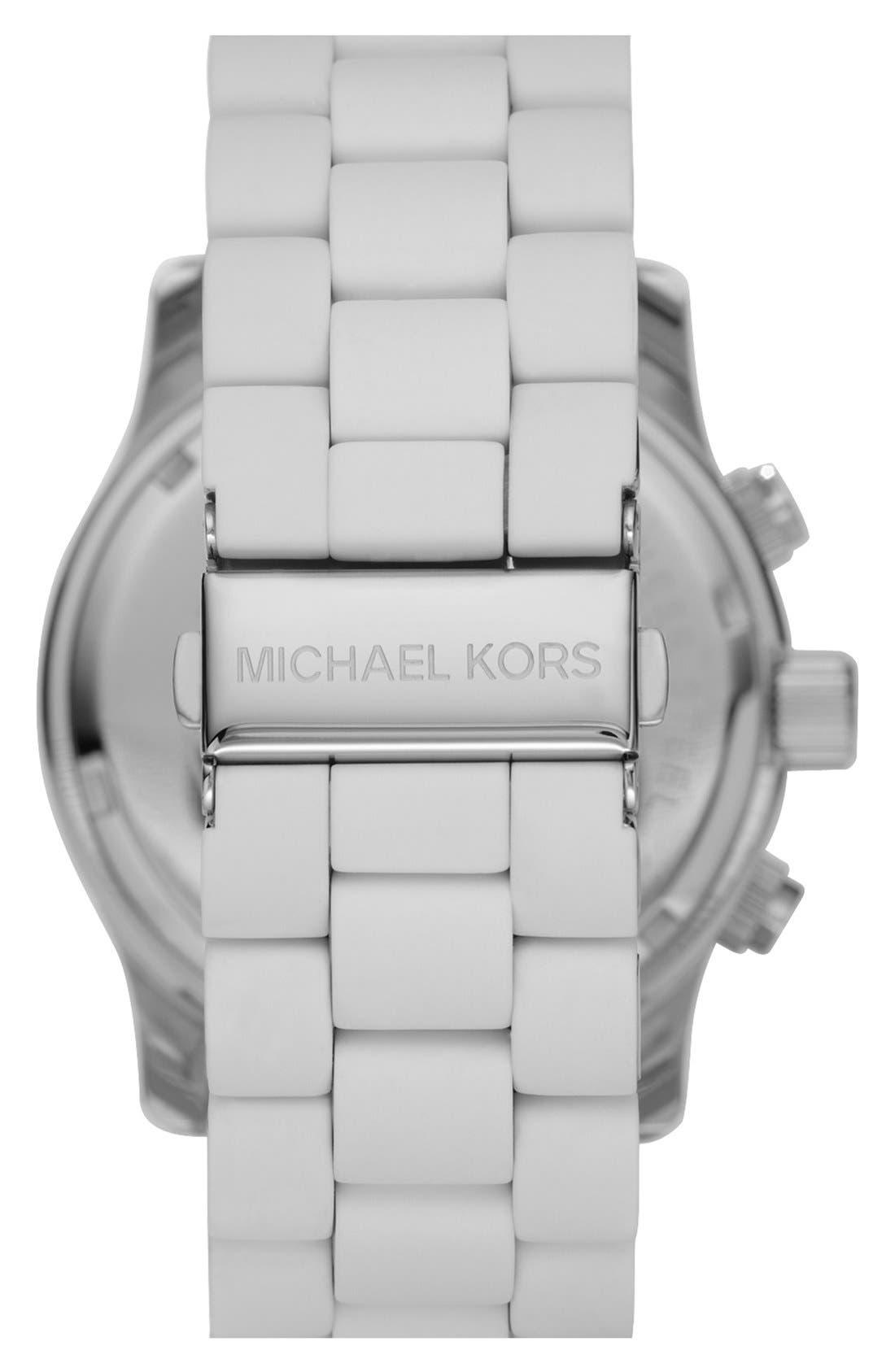 Alternate Image 2  - Michael Kors 'Large Runway Silicone Wrap' Watch, 46mm