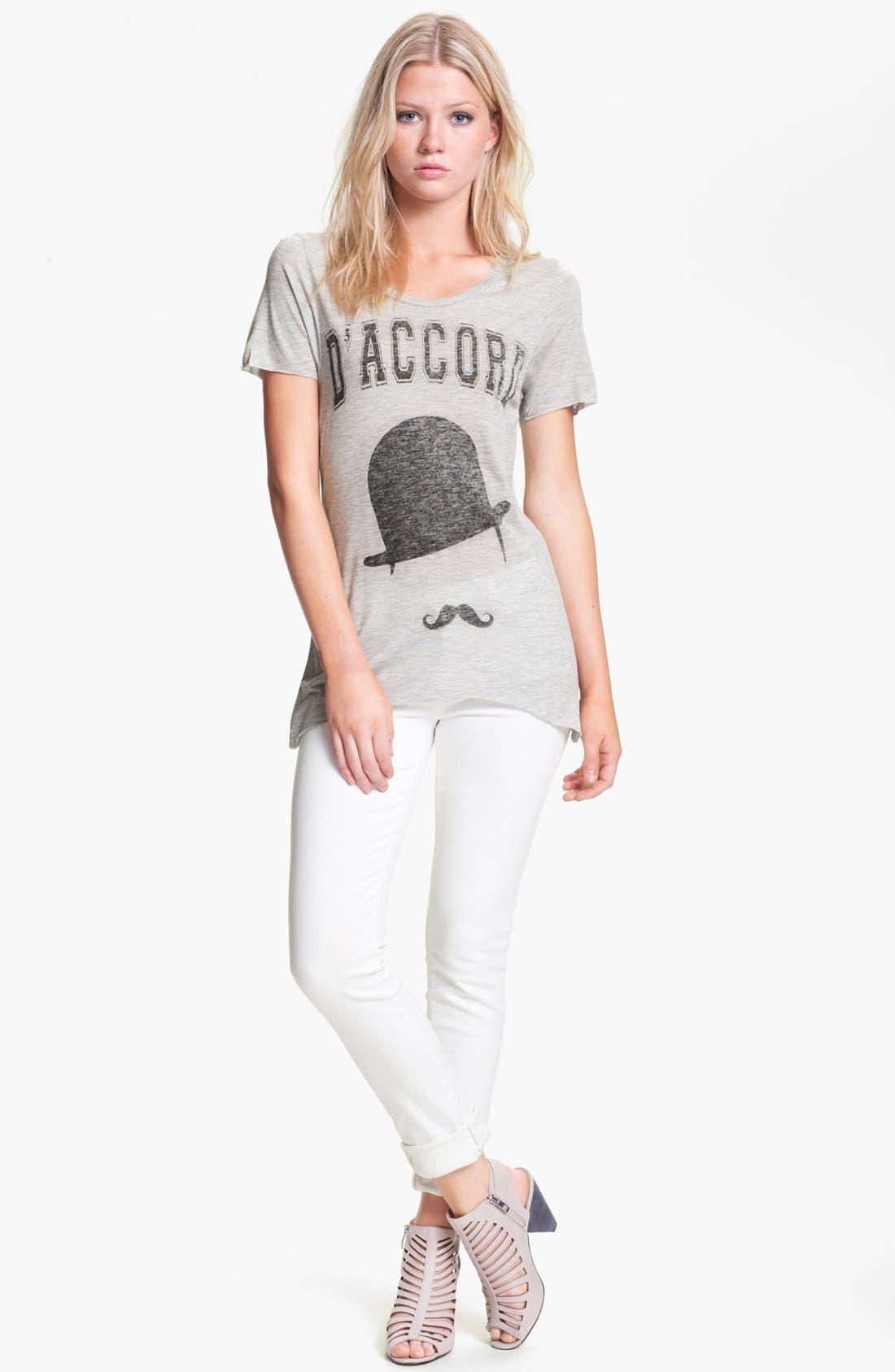 Alternate Image 1 Selected - Zoe Karssen Tee & J Brand Jeans