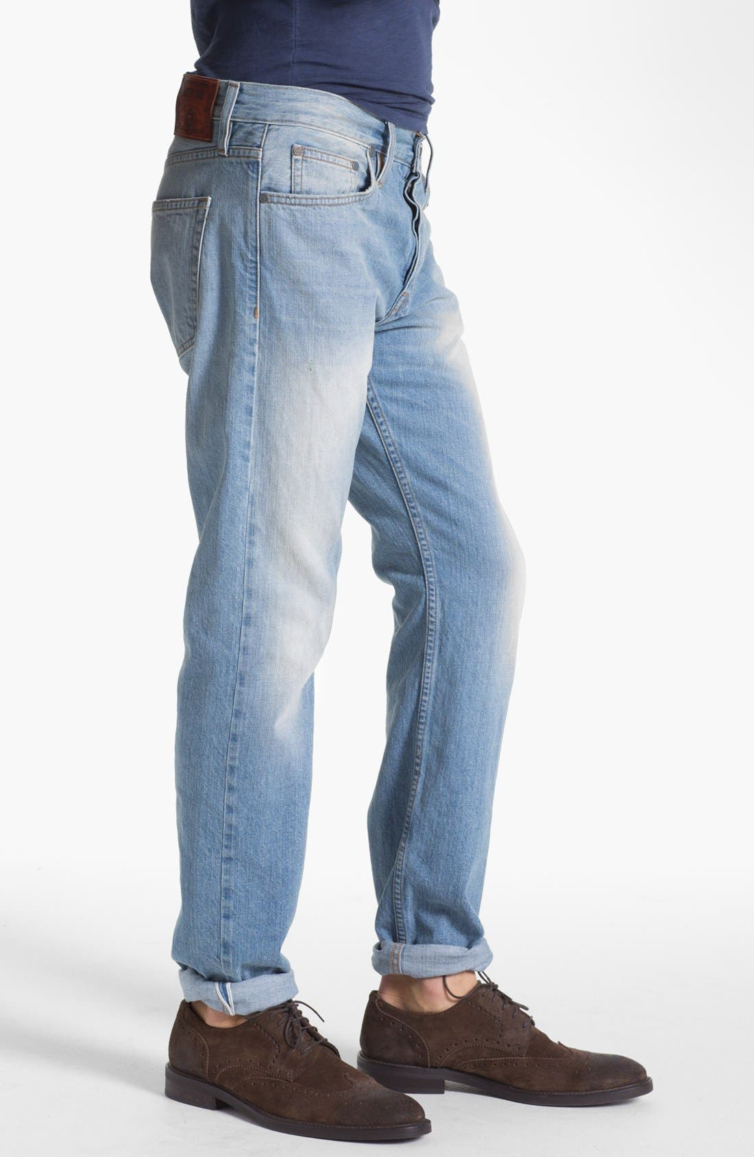 Alternate Image 3  - Asbury Park '1874 Monte Carlo' Straight Leg Selvedge Jeans (Paramount)