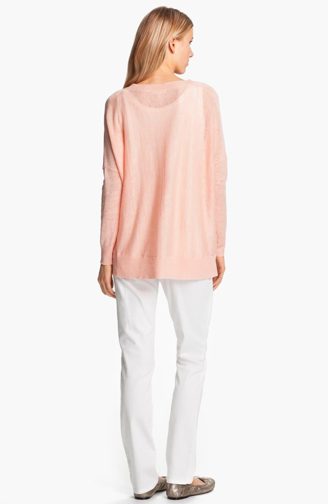 Alternate Image 4  - Eileen Fisher Lightweight Linen Tunic (Petite)