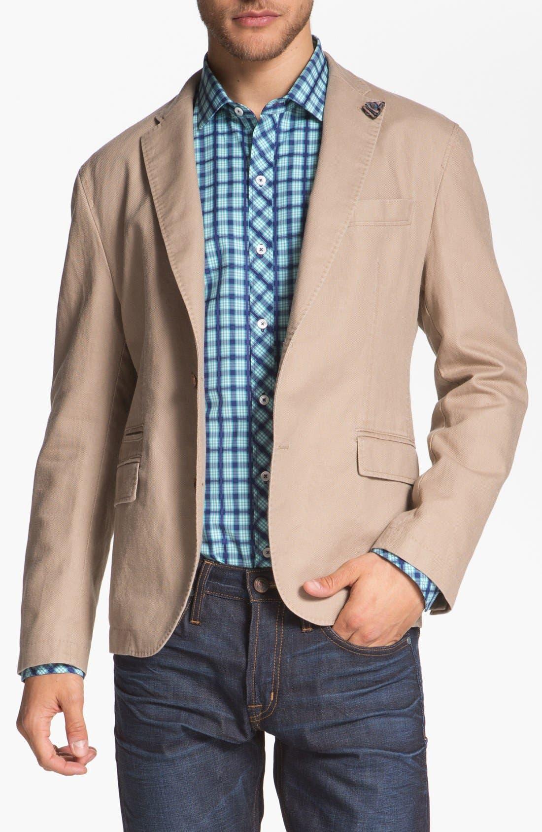 Alternate Image 1 Selected - BOSS HUGO BOSS 'Maldon' Linen Blend Sportcoat