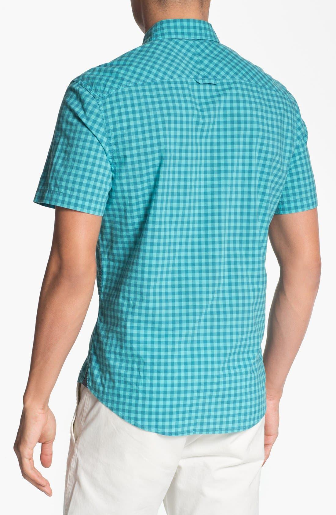 Alternate Image 3  - 1901 Plaid Short Sleeve Woven Shirt