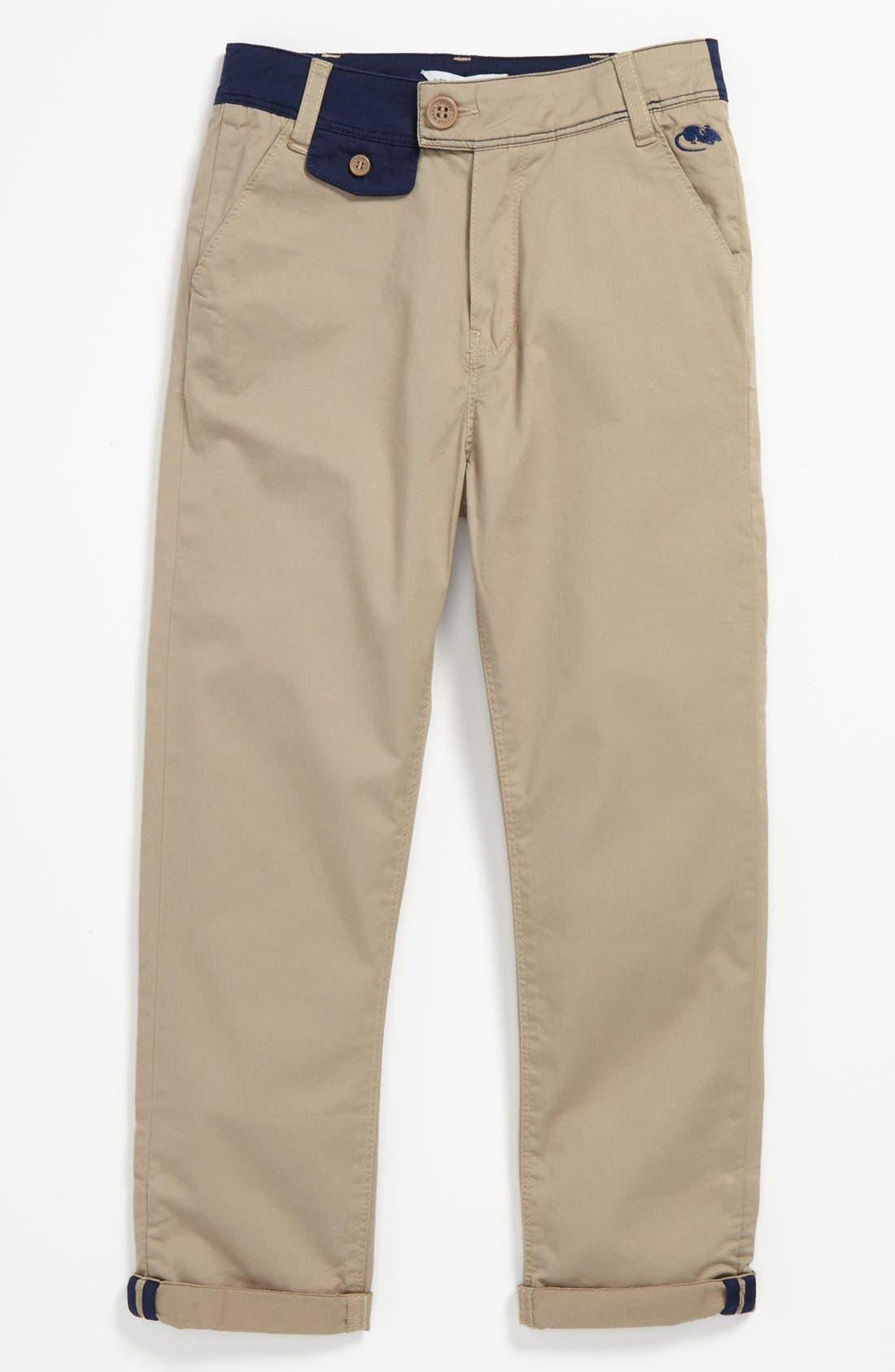 Alternate Image 1 Selected - LITTLE MARC JACOBS Stretch Gabardine Pants (Big Boys)