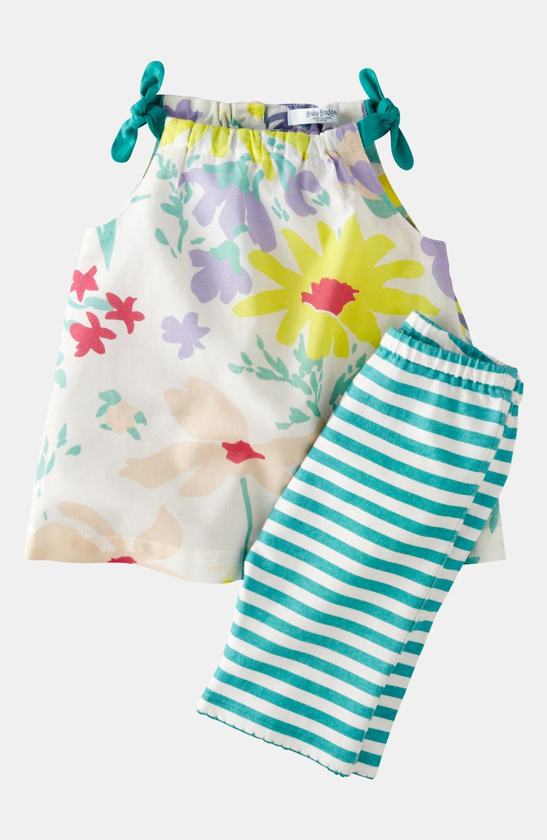 Alternate Image 1 Selected - Mini Boden Print Top & Leggings (Baby)