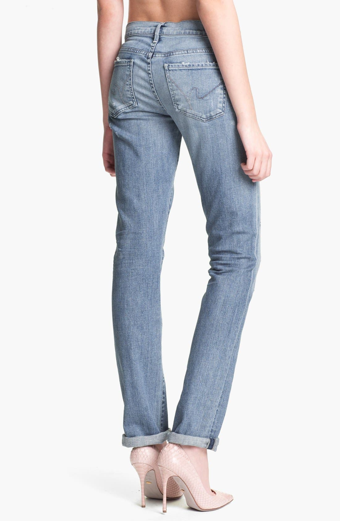 Alternate Image 2  - Citizens of Humanity 'Ava' Straight Leg Jeans (Mystic Blue)