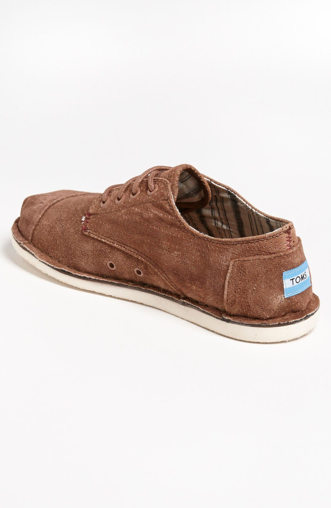 Alternate Image 2  - TOMS 'Desert' Perforated Suede Sneaker (Men)