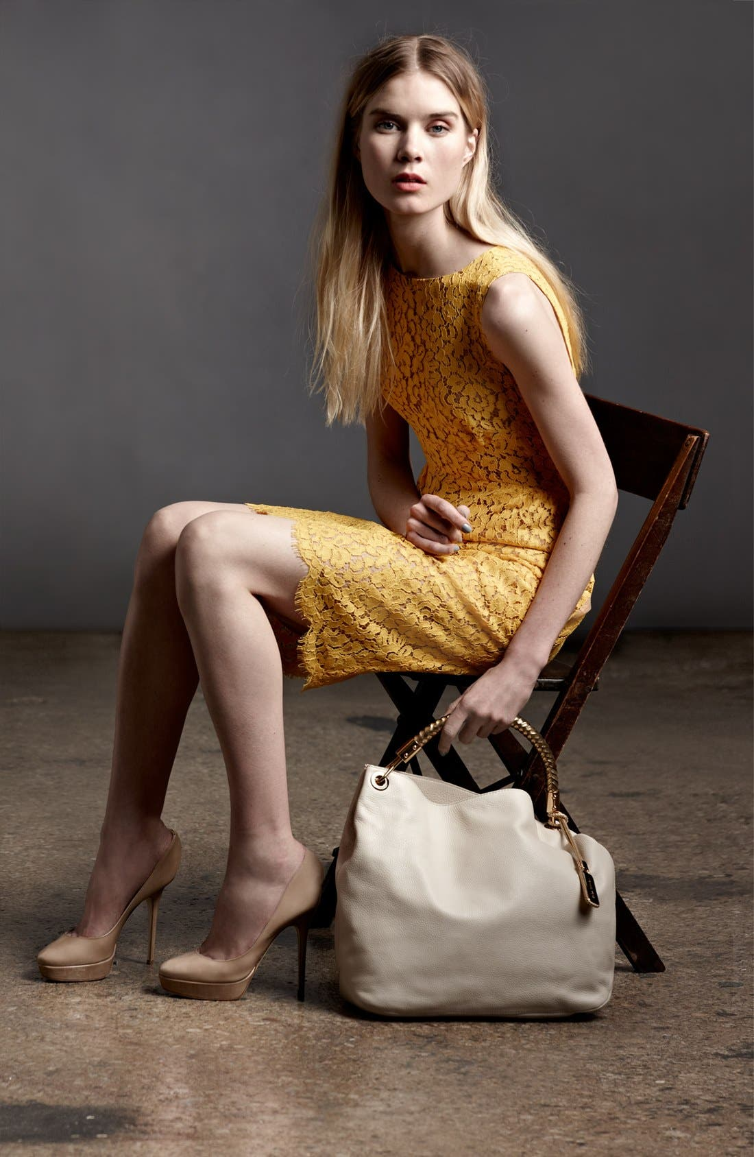 Alternate Image 3  - Michael Kors Floral Lace Shift Dress