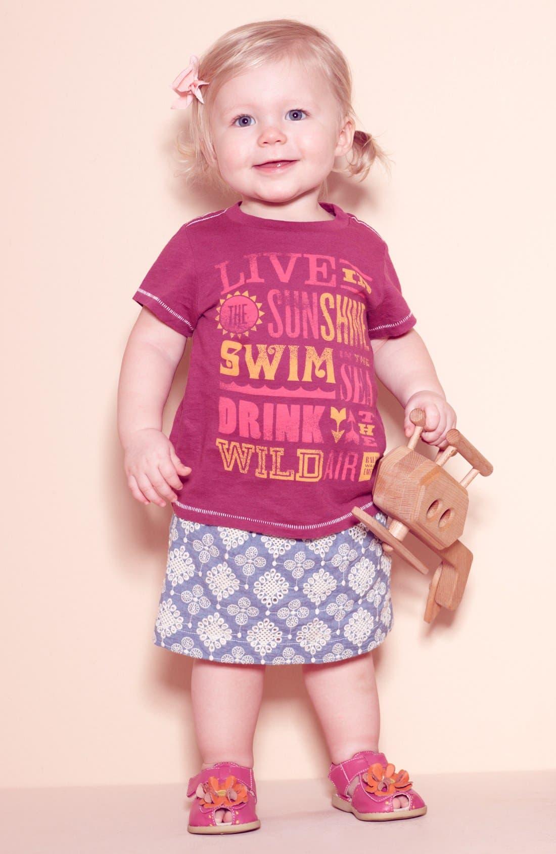Main Image - Peek Tee & Skirt, Babiators Sunglasses & Livie & Luca Sandal (Infant)