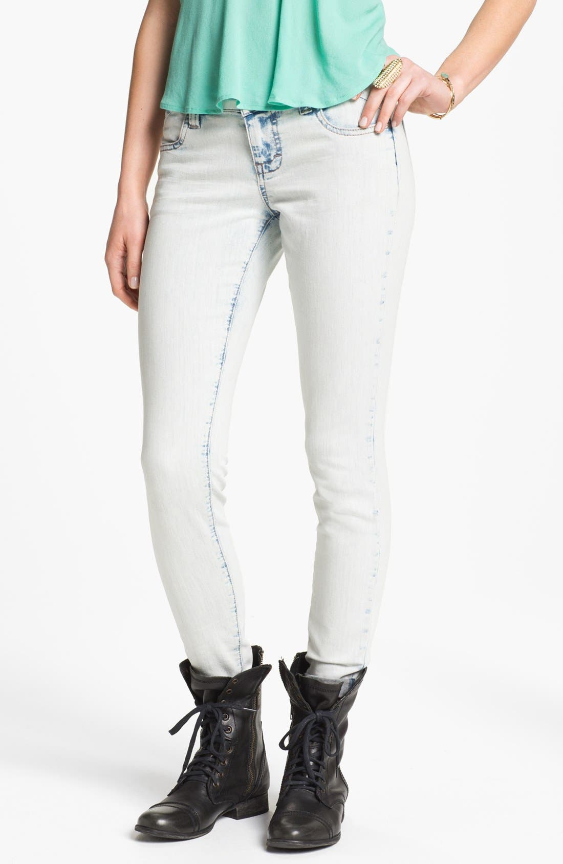 Main Image - STS Blue Acid Wash Skinny Jeans (Juniors)