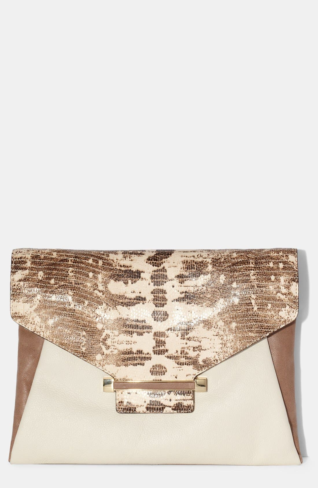 Alternate Image 1 Selected - Vince Camuto 'Julia' Leather Clutch