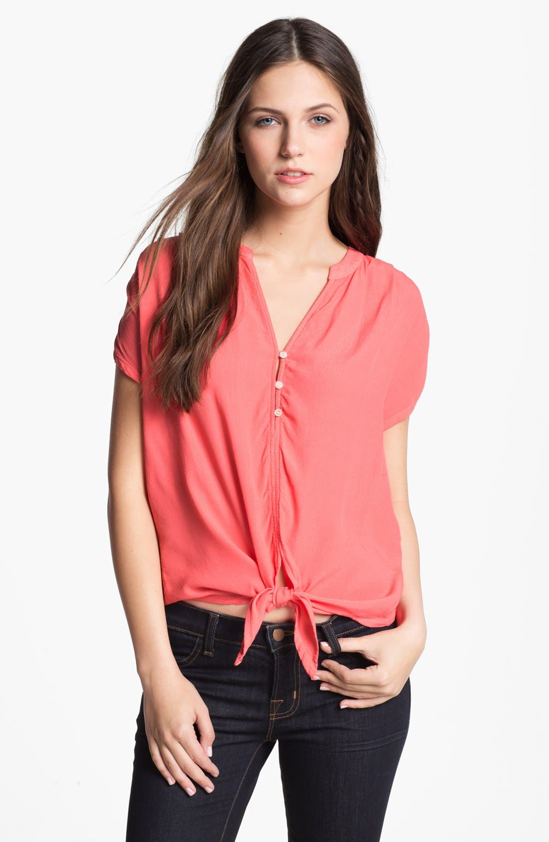Main Image - Soft Joie 'Chally' Tie Front Top