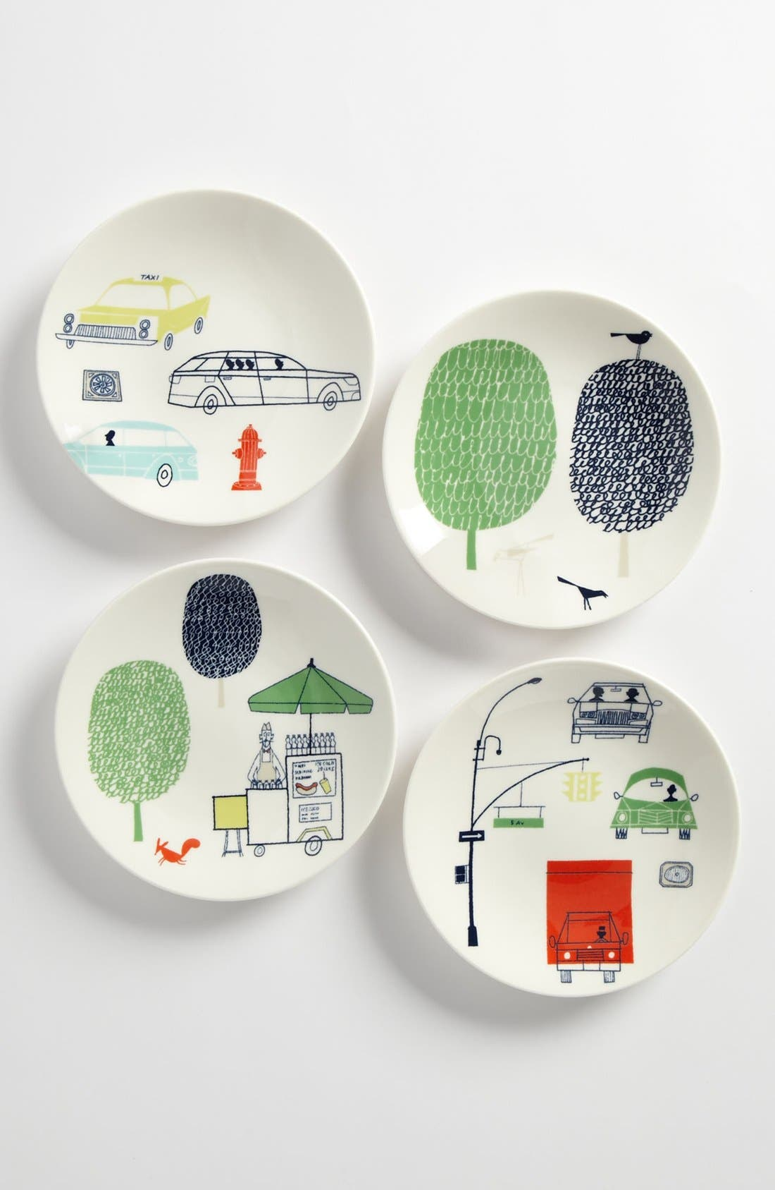 Main Image - kate spade new york 'hopscotch drive about town' tidbit plates (set of 4)
