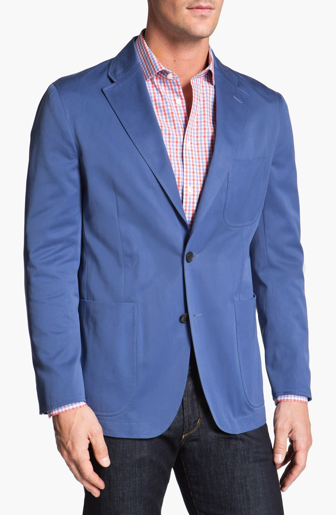 Alternate Image 1 Selected - Joseph Abboud Trim Fit Cotton Blazer