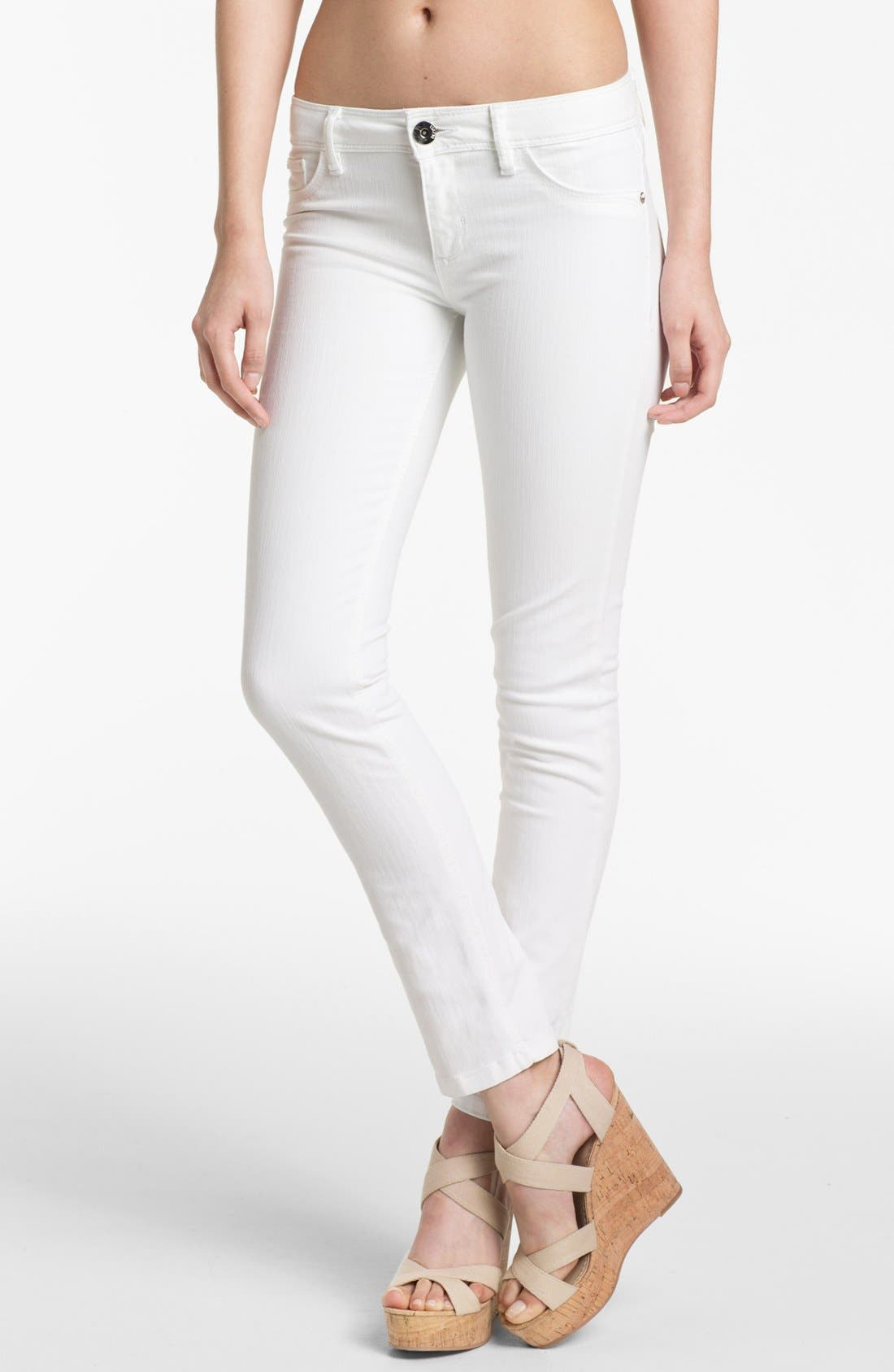 Main Image - DL1961 'Angel' Ankle Cigarette Jeans (Milk)