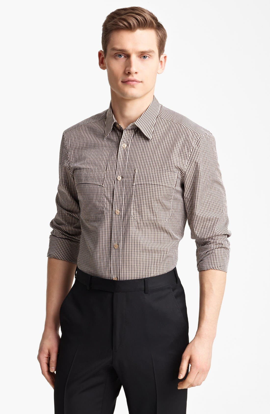 Alternate Image 1 Selected - Z Zegna Vichy Check Cotton Shirt