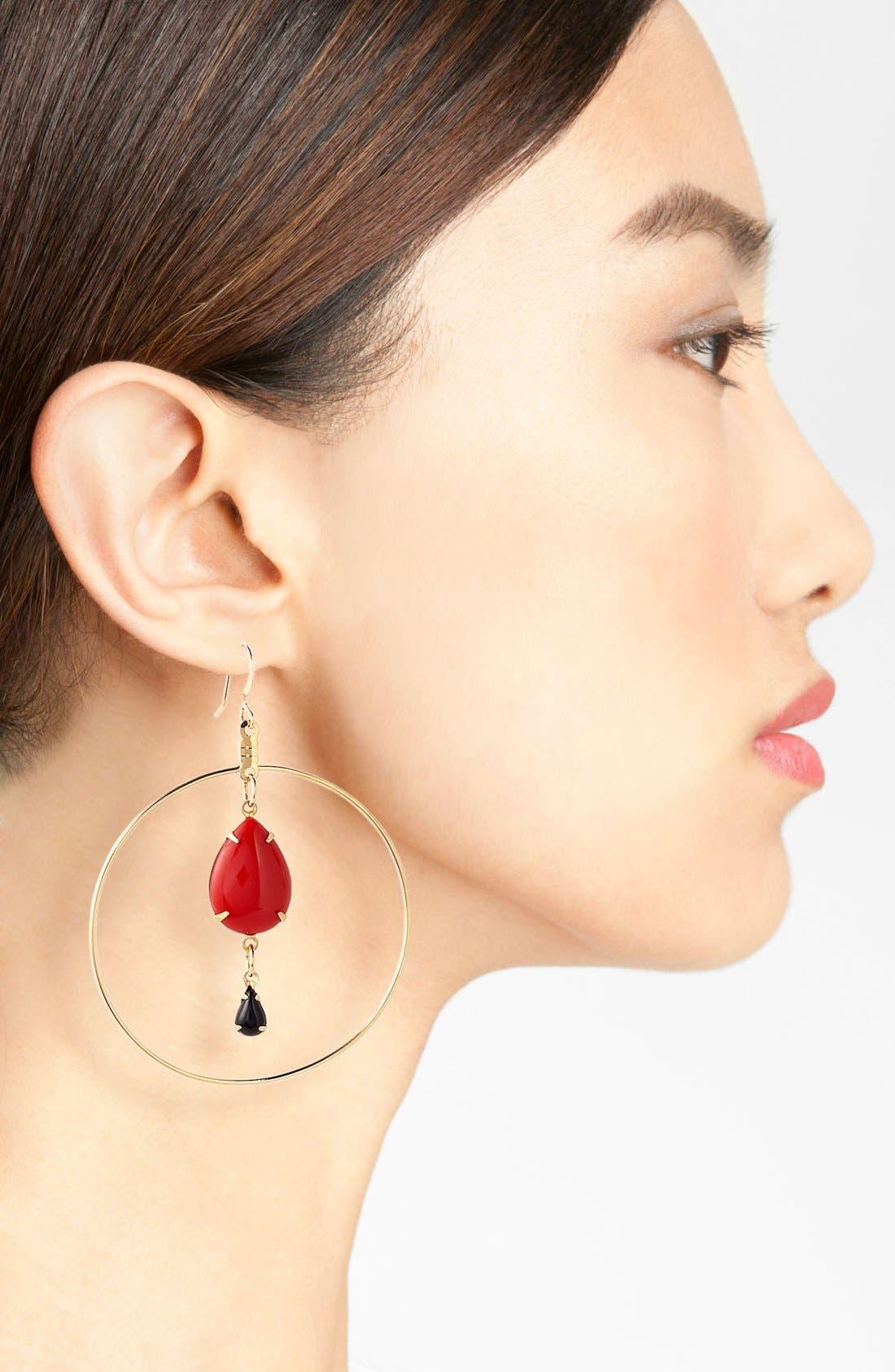 Alternate Image 2  - Verdier Jewelry 'Caliente' Hoop Earrings