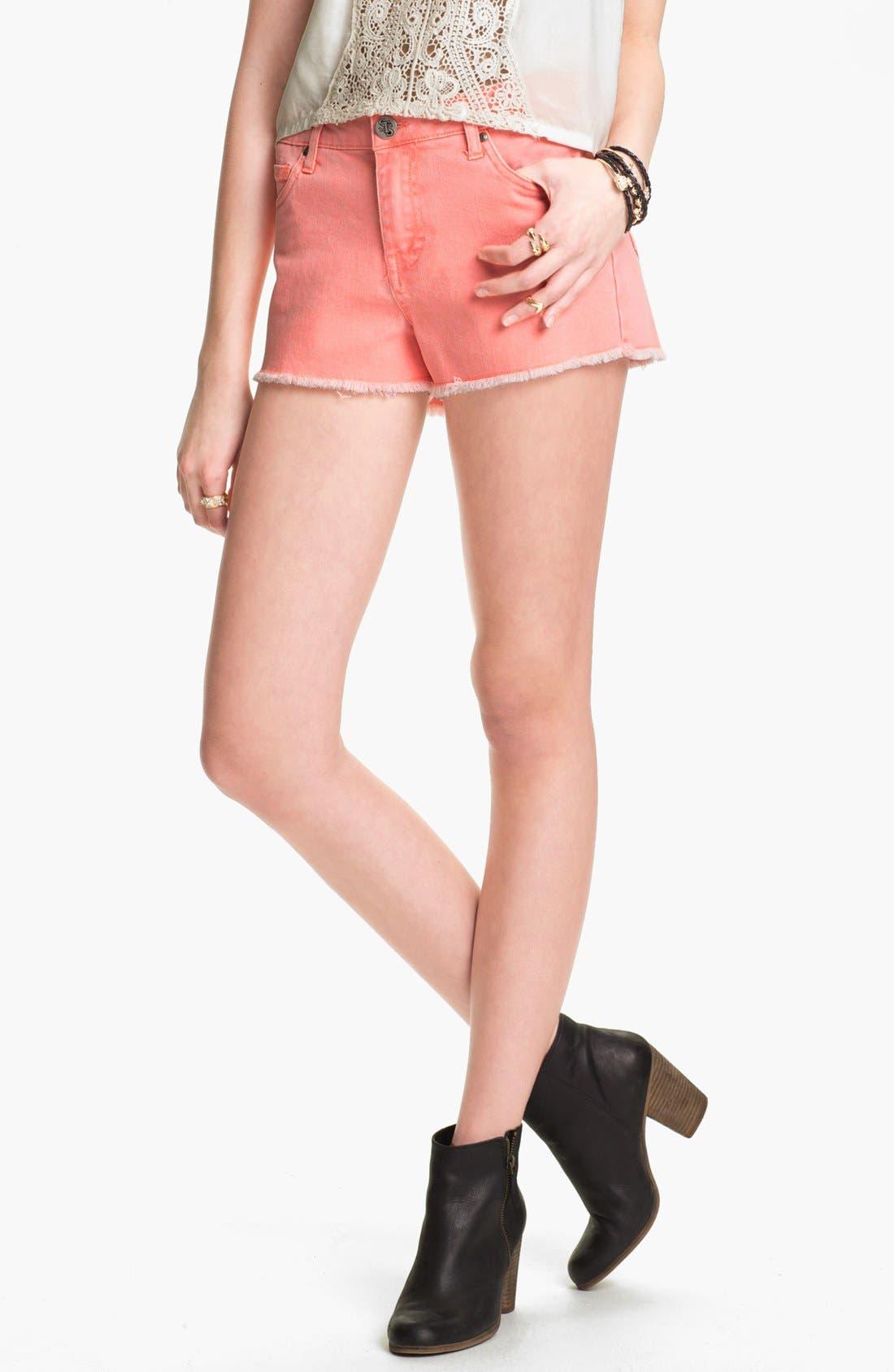 Alternate Image 1 Selected - STS Blue High Waist Cutoff Denim Shorts (Juniors)