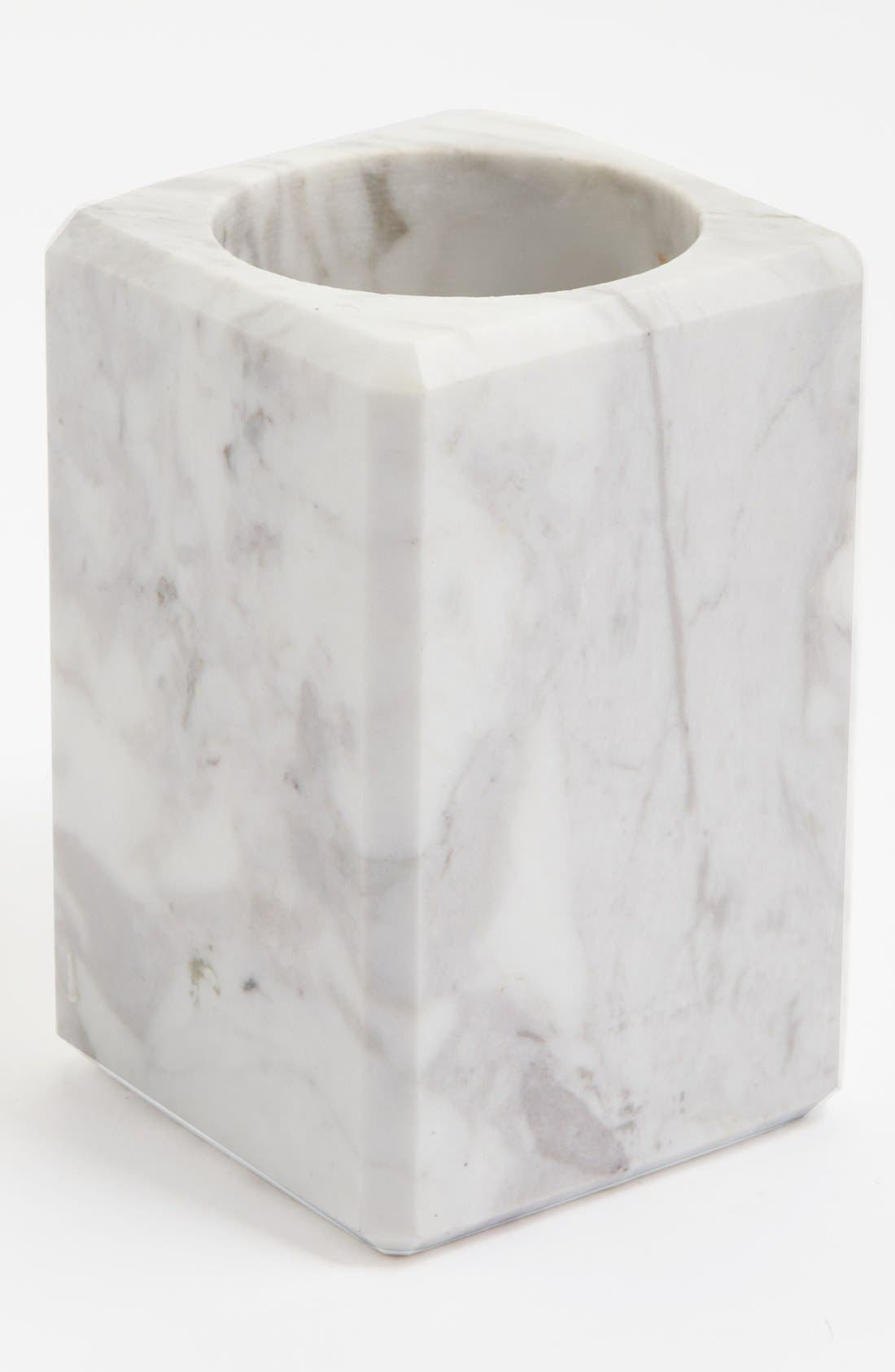 Alternate Image 1 Selected - Waterworks Studio 'Luna' White Marble Tumbler (Online Only)