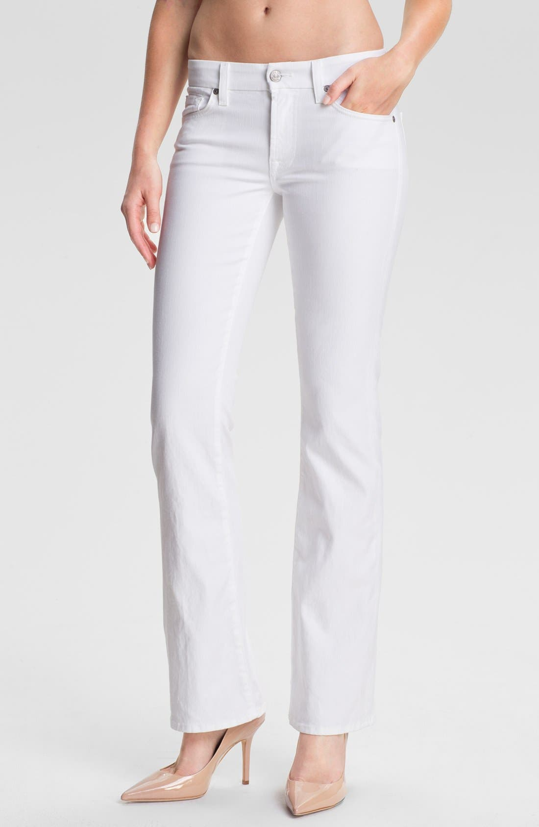 Main Image - 7 For All Mankind® 'Kimmie' Bootcut Jeans (Clean White)