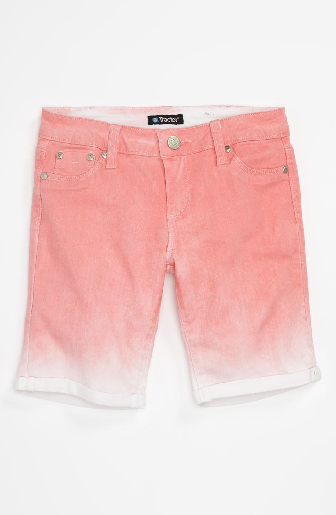 Alternate Image 1 Selected - Tractr Ombré Bermuda Shorts (Big Girls)