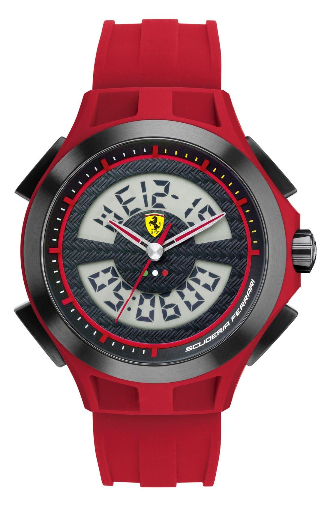 Alternate Image 1 Selected - Scuderia Ferrari 'Lap Time' Dual Movement Watch, 46mm