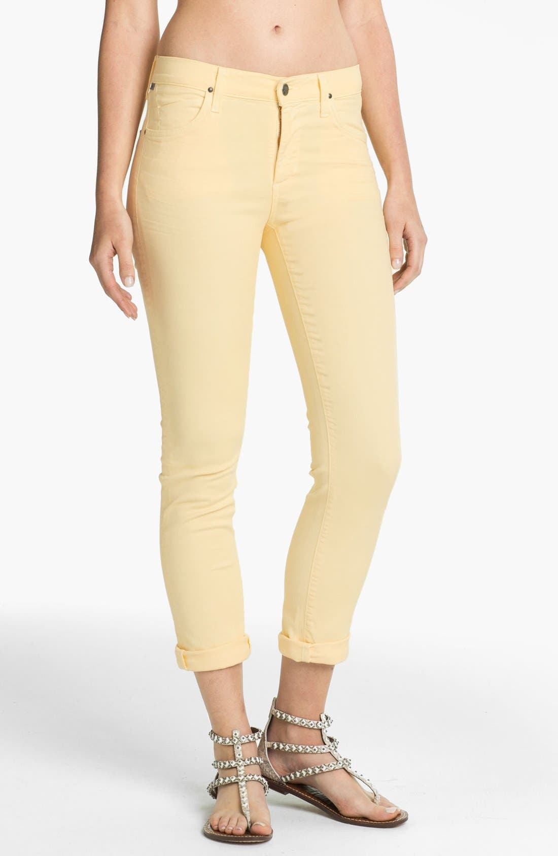 Alternate Image 1 Selected - Citizens of Humanity 'Carlton' Crop Skinny Jeans (Meringue)