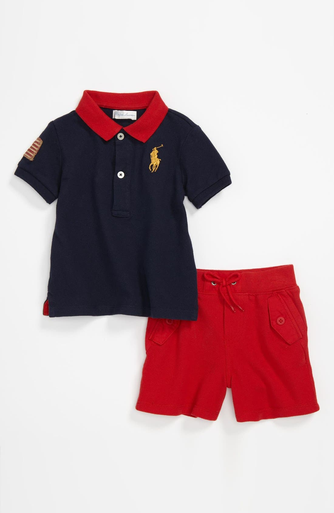 Main Image - Ralph Lauren Polo & Shorts (Baby)