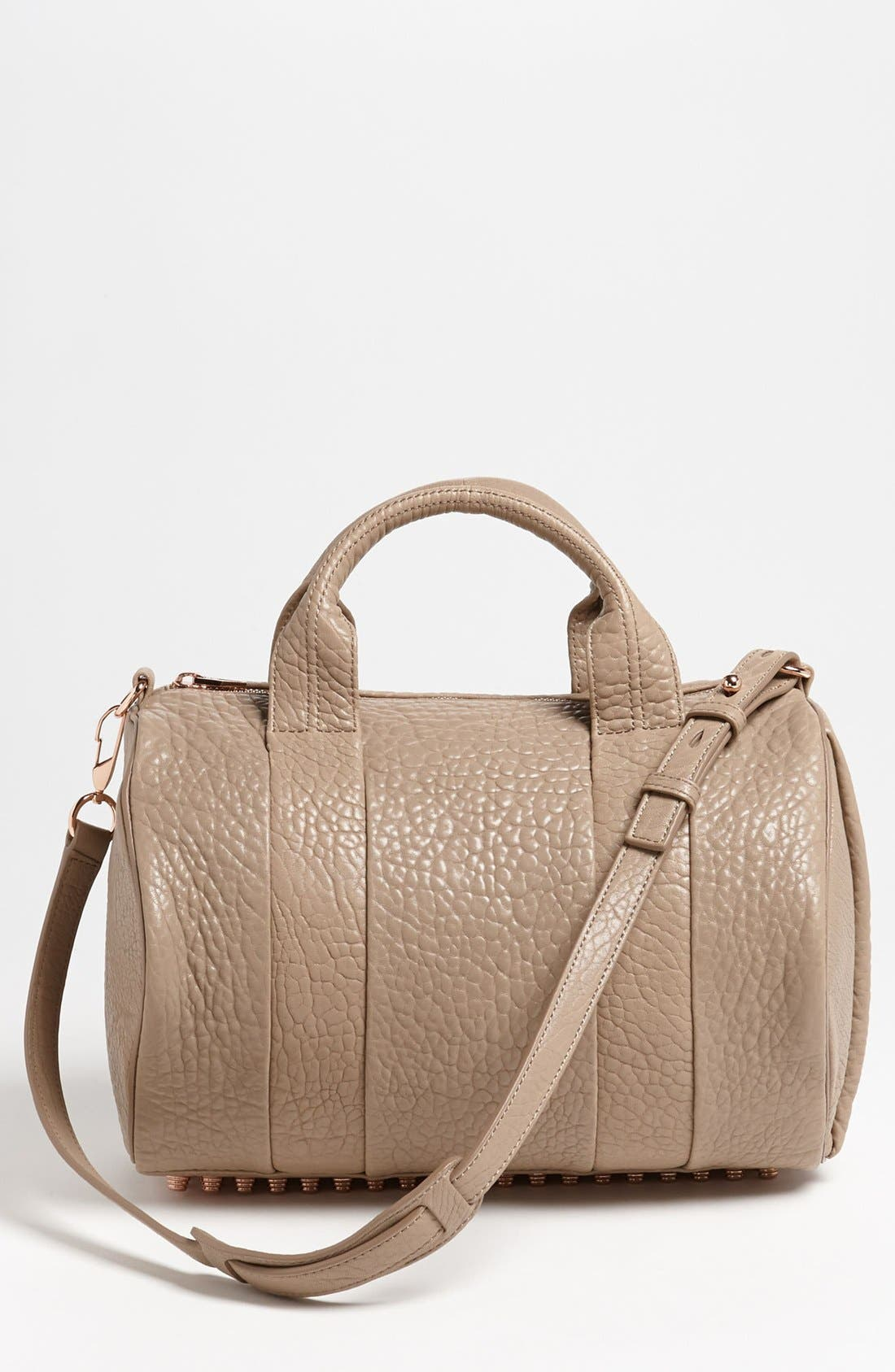 Main Image - Alexander Wang 'Rocco - Rosegold' Leather Satchel
