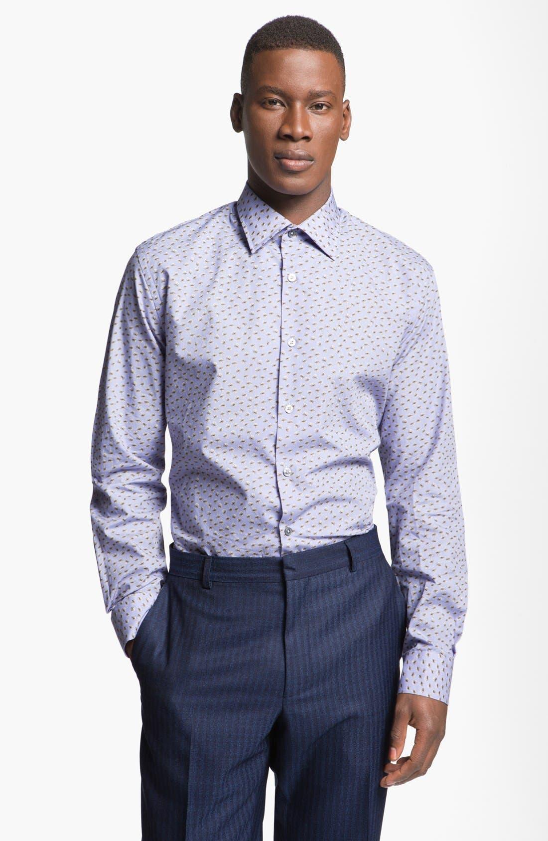 Alternate Image 1 Selected - Paul Smith London Slim Fit Sand Dollar Print Dress Shirt
